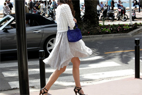 Street style z Cannes